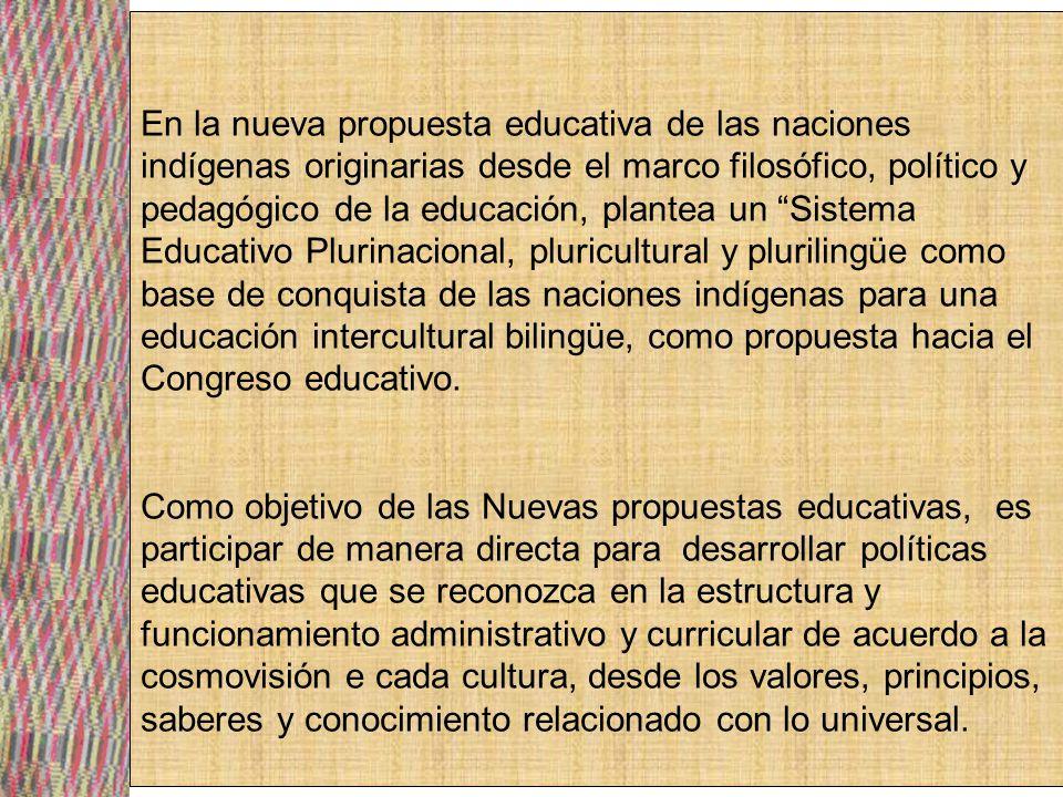 Se plantea la participación social en educación con poder de decisión en las formulaciones de políticas educativas, gestión en todo el sistema educativo plurinacional en los aspectos curriculares, orientaciones en la EIB, en lo pedagógico, institucionales y administrativas.