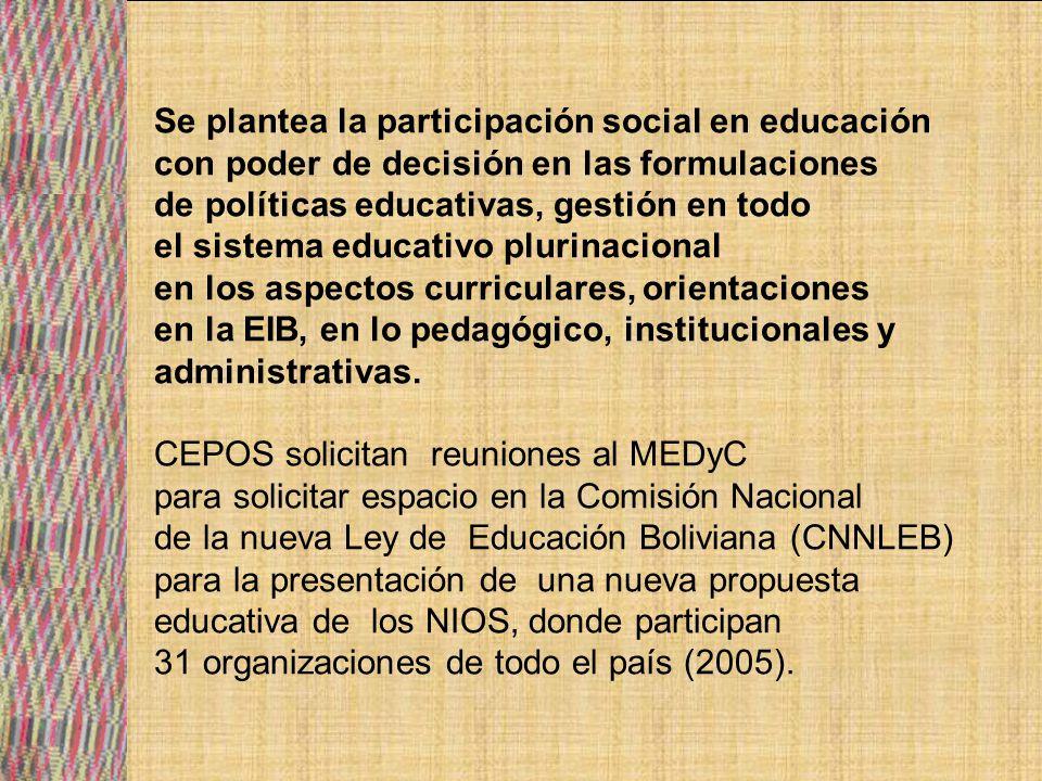 Bloque educativo y CEPOS realizan encuentros para socializar la propuesta educativa del Ministerio.
