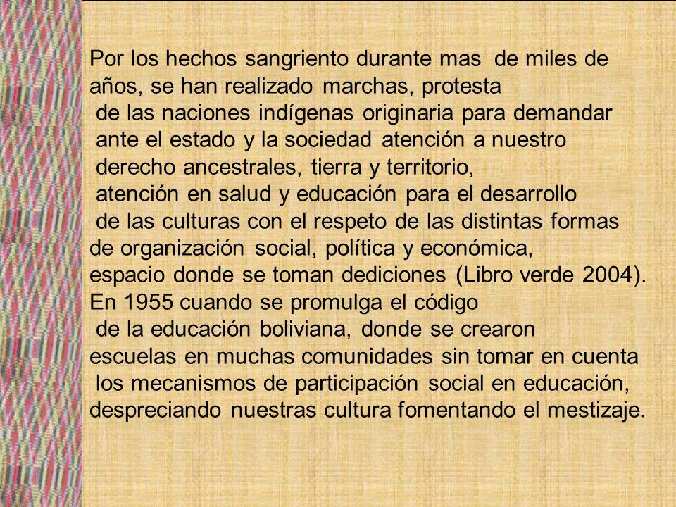 La dictadura de 1971-1978 (Hugo Banzer Suárez), plantea una política que priva las intervenciones del ejercicio ciudadano en las estructuras del estado.