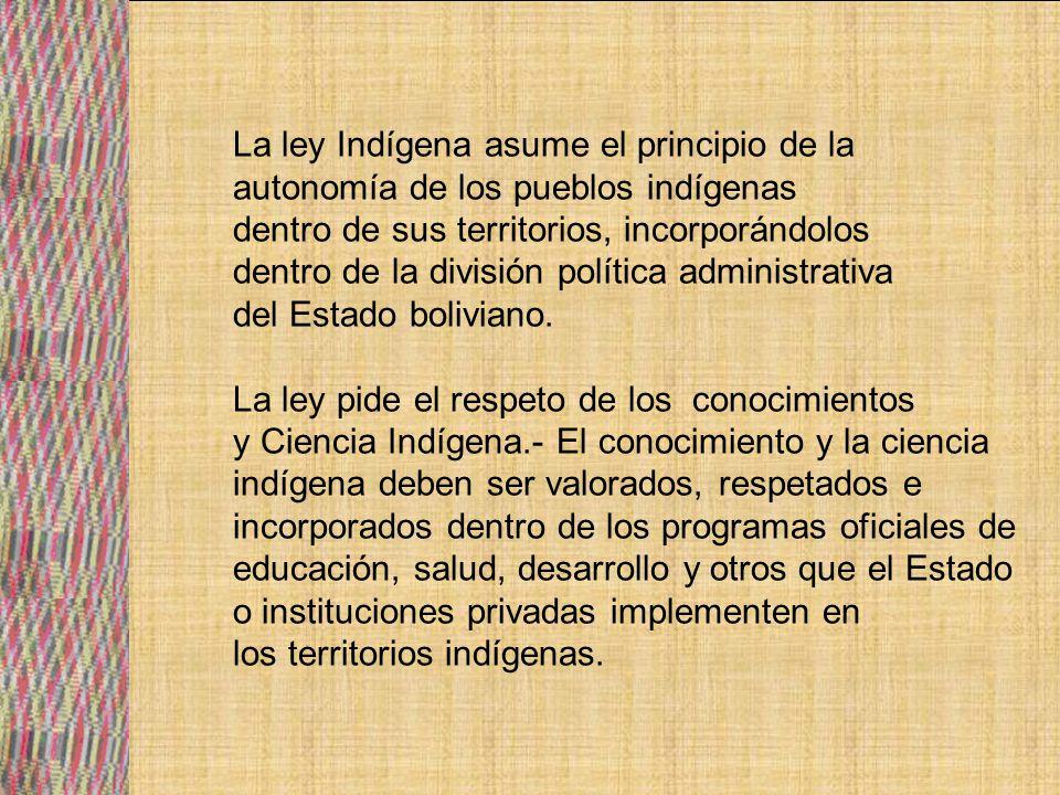 Como resultado de la Marcha Por el Territorio y la Dignidad se aprobaron Decreto Supremo que reconocieron a ocho Territorio indígenas (1990).
