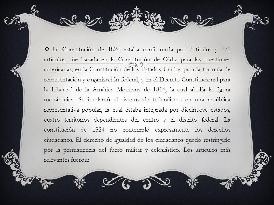 1.La nación mexicana es soberana y libre del gobierno español y de cualquier otra nación.