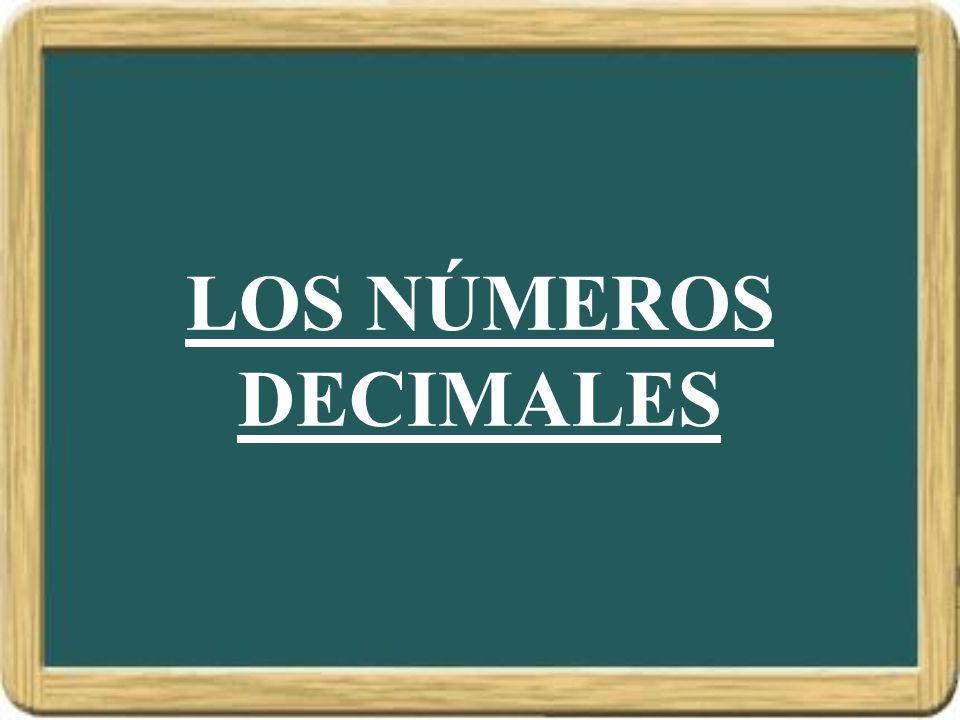 LOS NÚMEROS DECIMALES