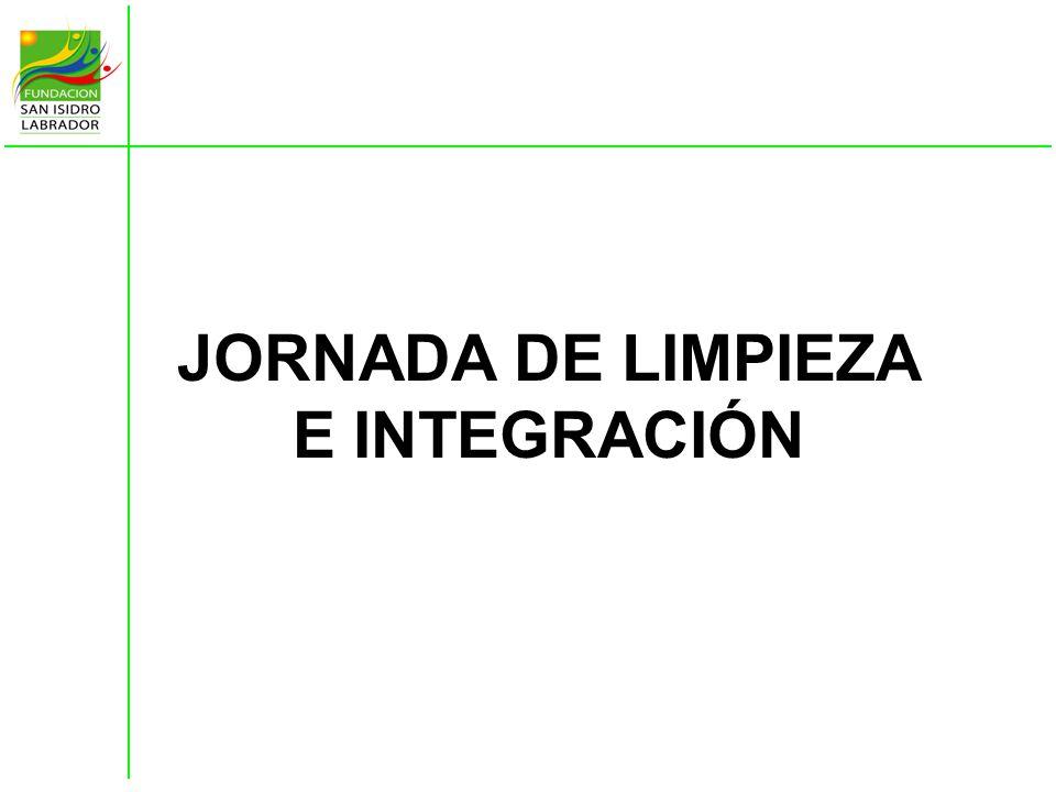 JORNADA DE LIMPIEZA E INTEGRACIÓN