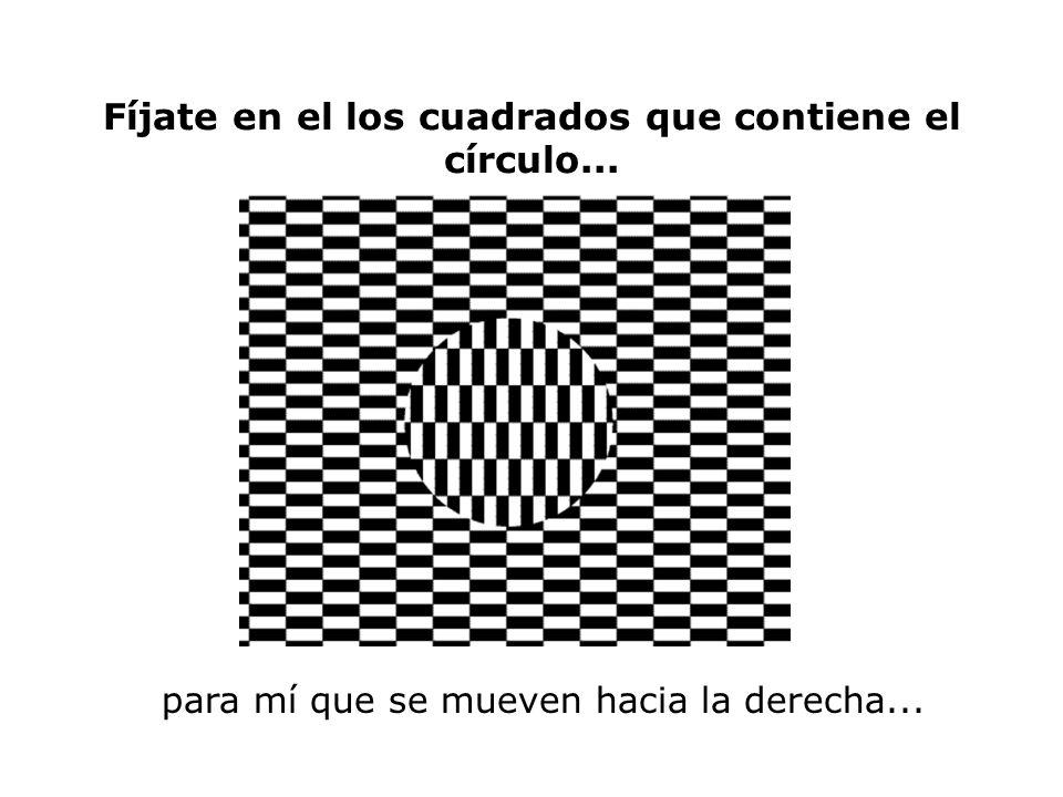 Fíjate en el los cuadrados que contiene el círculo... para mí que se mueven hacia la derecha...