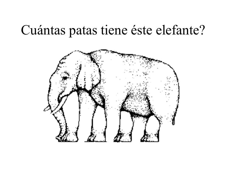 Cuántas patas tiene éste elefante?