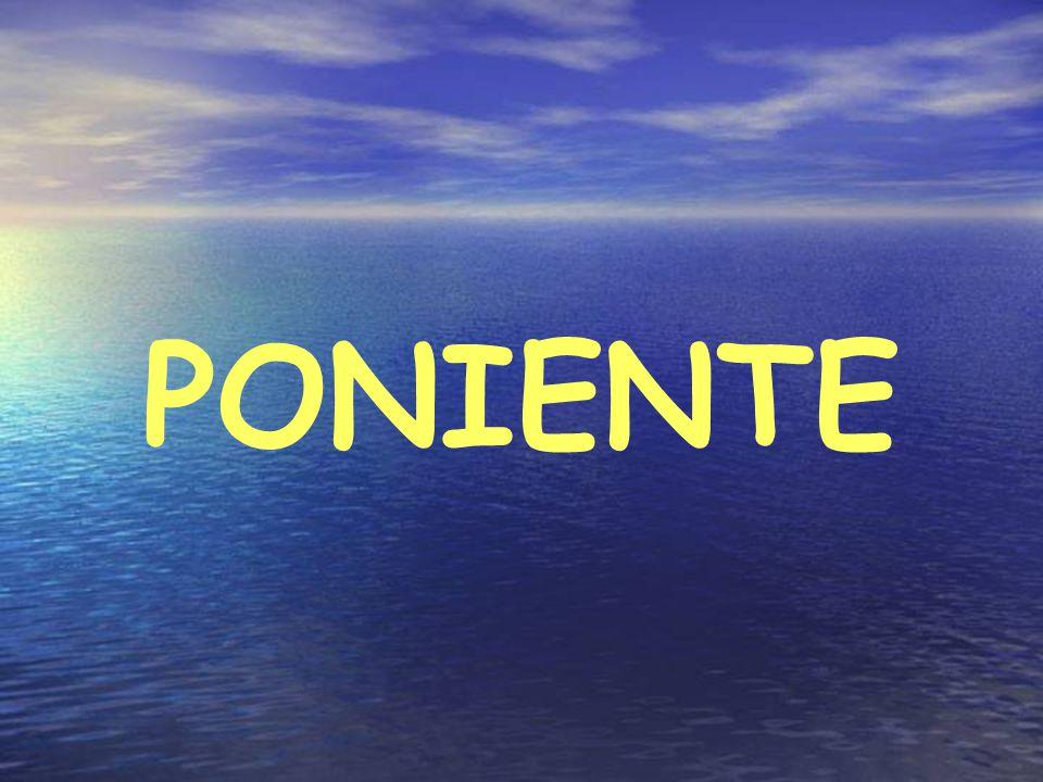 DENOMINACIÓNMISTRAL, MAESTRAL, MESTRAL ORIGENAnticiclón al W península, Borrasca en Mar del Norte DIRECCIÓNNW FUERZA20 a 30 nudos F-4 a F - 6, hasta 90 nudos CARACTERÍSTICASFrió y seco, Masas aire Continental PREDICCIÓNCielo muy claro, Barómetro bajando lento y sin cesar ÉPOCADiciembre, Enero, Febrero y Junio DURACIÓN2 a 3 días, su cese lo predice al finalizar el CIERZO MARMarejada ( 1 a 2 m.