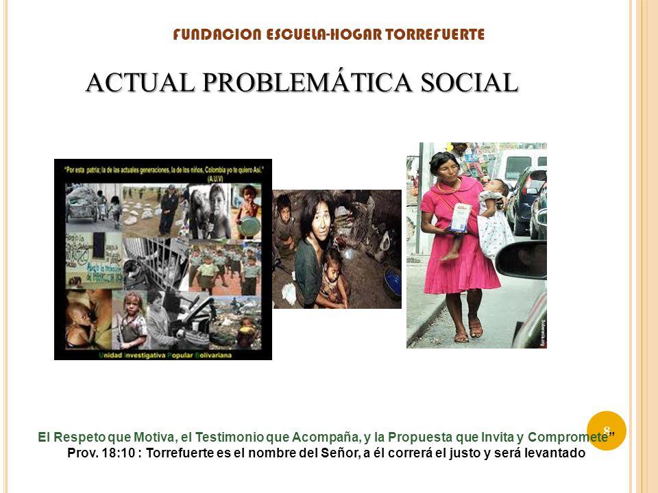 ACTUAL PROBLEMÁTICA SOCIAL FUNDACION ESCUELA-HOGAR TORREFUERTE 8 El Respeto que Motiva, el Testimonio que Acompaña, y la Propuesta que Invita y Compro