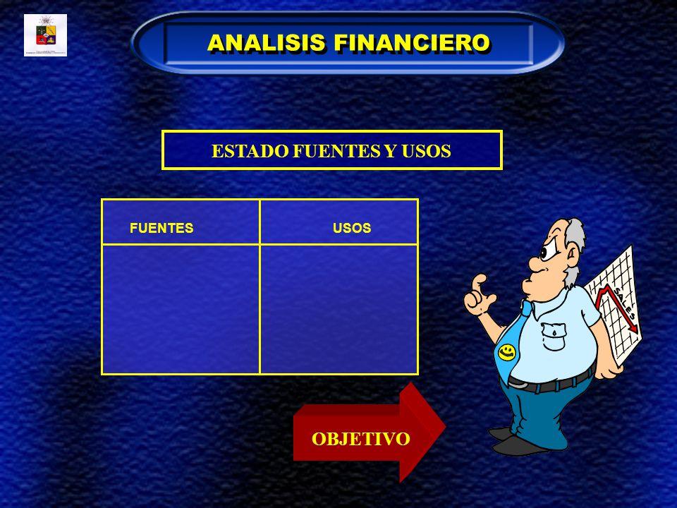ESTADO FUENTES Y USOS FUENTESUSOS OBJETIVO ANALISIS FINANCIERO