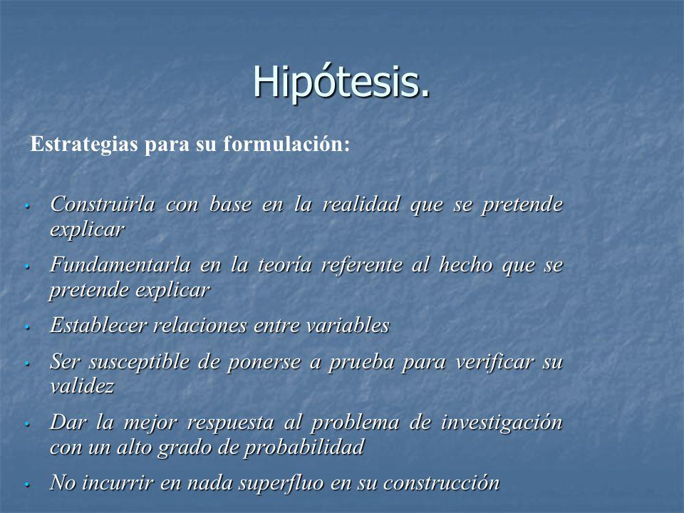 Hipótesis.
