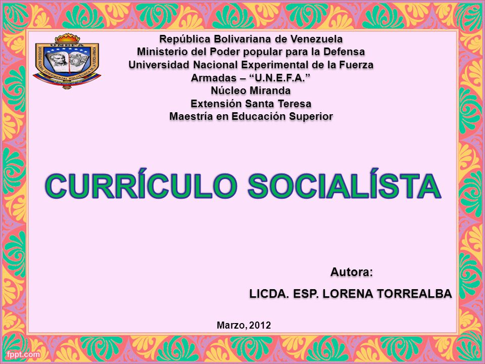 República Bolivariana de Venezuela Ministerio del Poder popular para la Defensa Universidad Nacional Experimental de la Fuerza Armadas – U.N.E.F.A. Nú