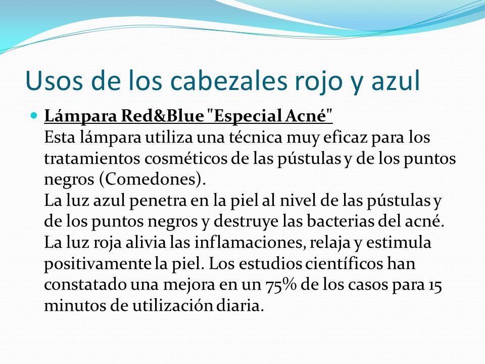 Usos de los cabezales rojo y azul Lámpara Red&Blue