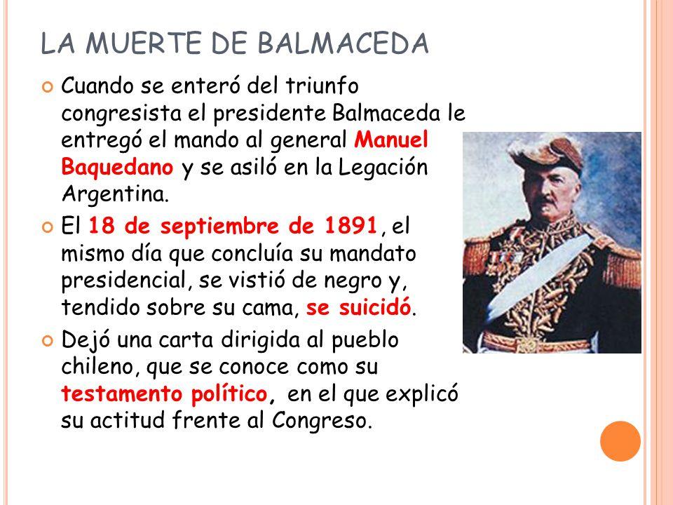 ACTIVIDAD Lee el testamento político de Balmaceda que aparece en la página 90 de tu libro y luego responde las preguntas que ahí aparecen.