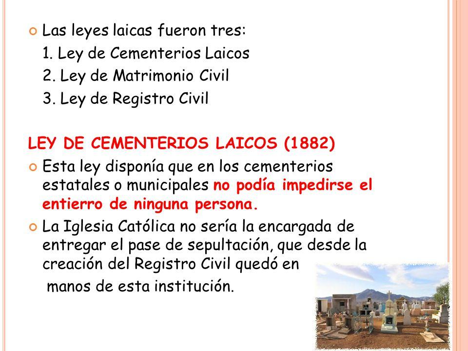 L EY DE MATRIMONIO CIVIL (1884) Desde la época colonial el único matrimonio válido en Chile era el que se realizaba por la Iglesia Católica.