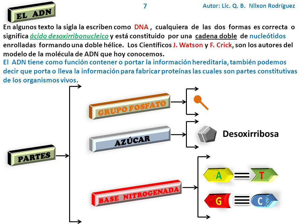 Autor: Lic. Q. B. Nilxon Rodríguez 8