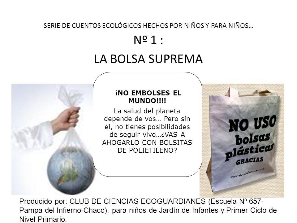 SERIE DE CUENTOS ECOLÓGICOS HECHOS POR NIÑOS Y PARA NIÑOS… Nº 1 : LA BOLSA SUPREMA ¡NO EMBOLSES EL MUNDO!!!.