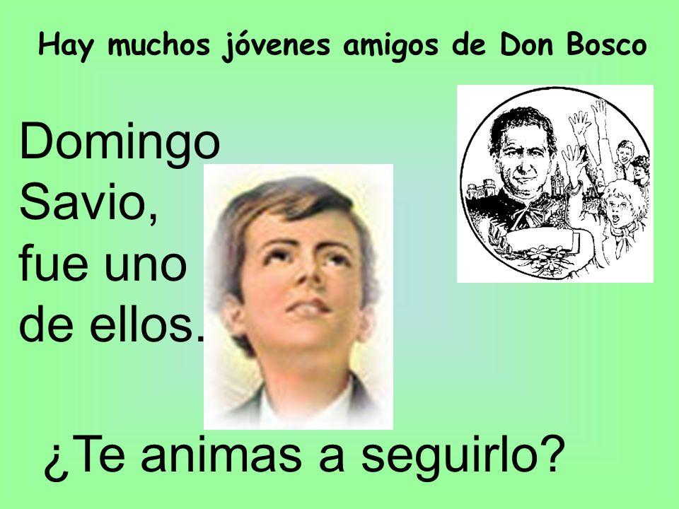 Hay muchos jóvenes amigos de Don Bosco Domingo Savio, fue uno de ellos. ¿Te animas a seguirlo?