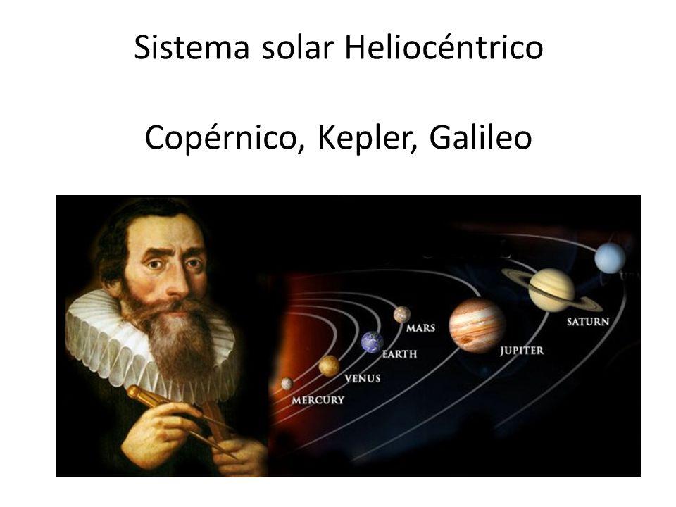 Sistema solar Heliocéntrico Copérnico, Kepler, Galileo