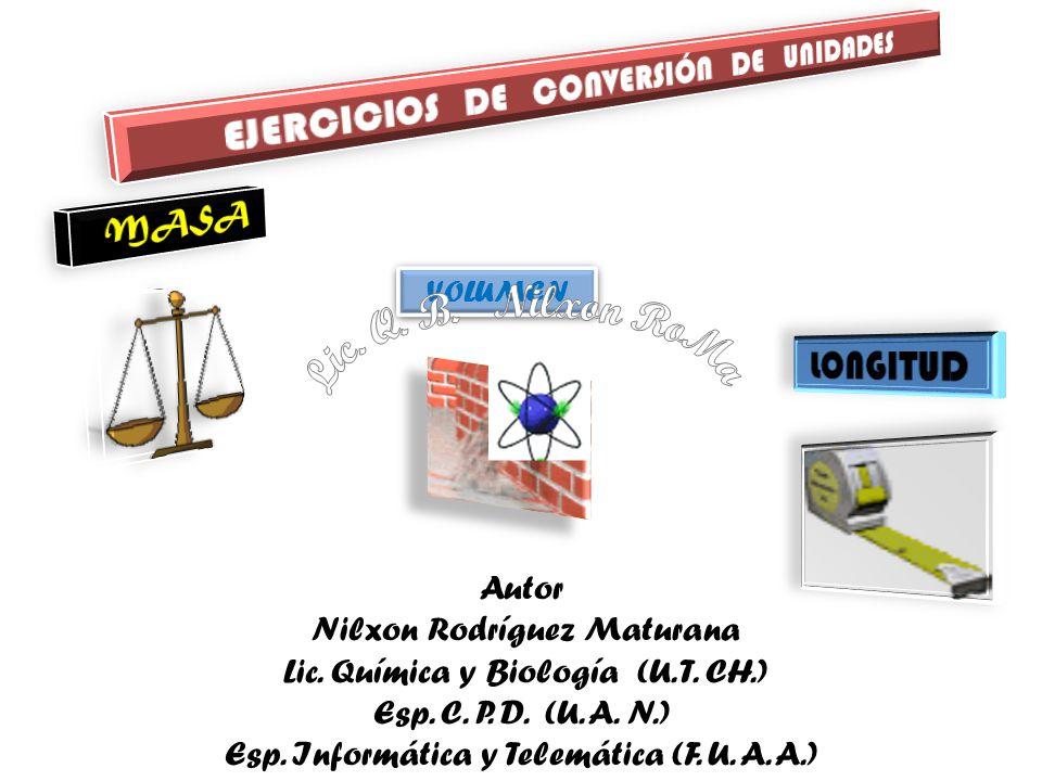 VOLUMEN VOLUMEN Autor Nilxon Rodríguez Maturana Lic.