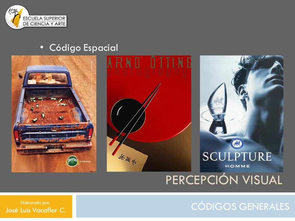 PERCEPCIÓN VISUAL CÓDIGOS GENERALES Código Espacial Elaborado por: José Luis Vacaflor C.