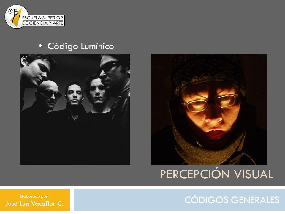 PERCEPCIÓN VISUAL CÓDIGOS GENERALES Código Lumínico Elaborado por: José Luis Vacaflor C.