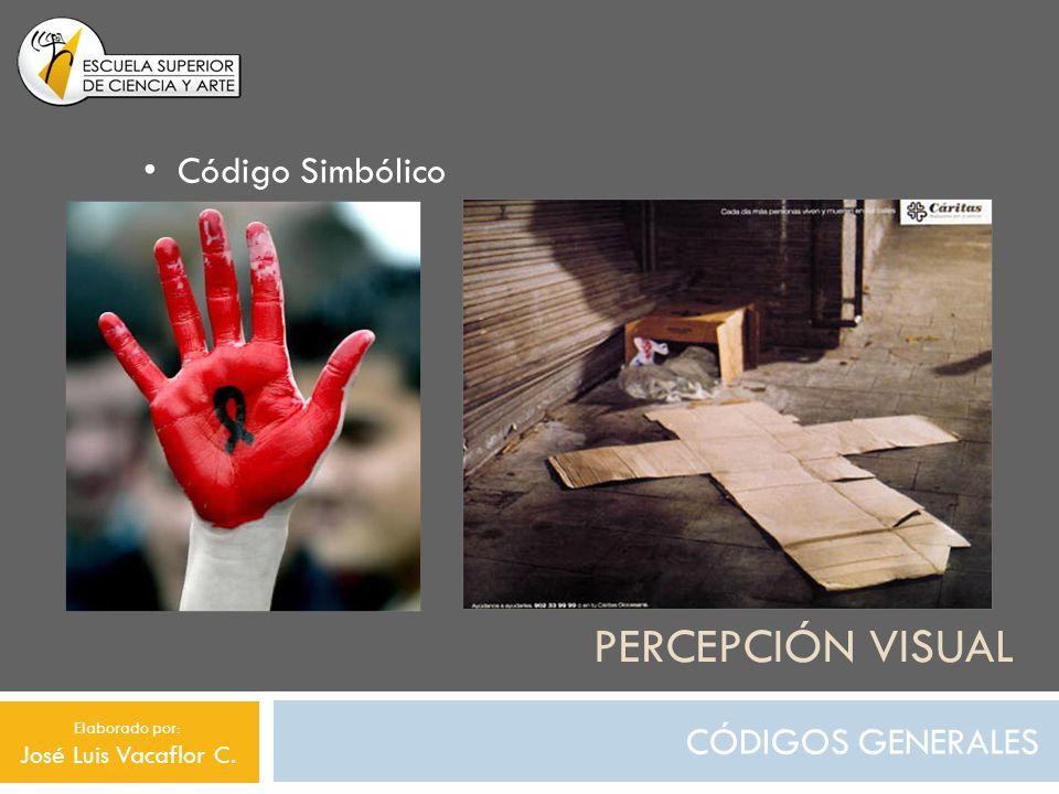 PERCEPCIÓN VISUAL CÓDIGOS GENERALES Código Simbólico Elaborado por: José Luis Vacaflor C.