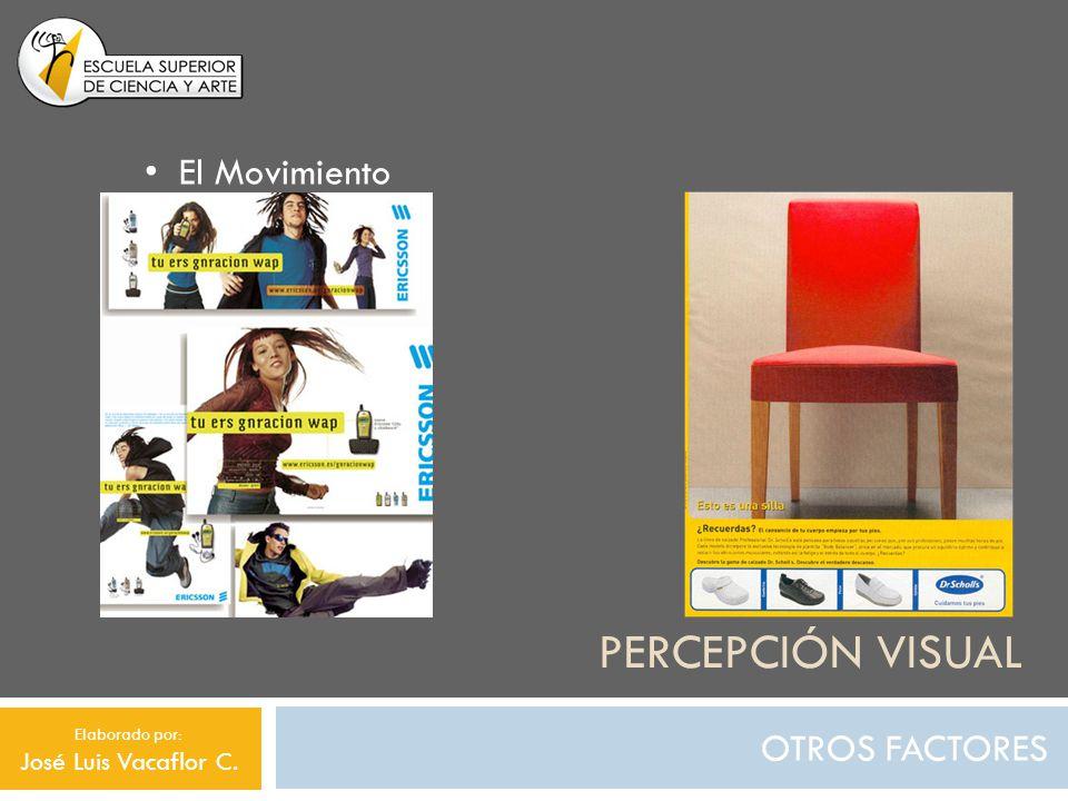 PERCEPCIÓN VISUAL OTROS FACTORES El Movimiento Elaborado por: José Luis Vacaflor C.