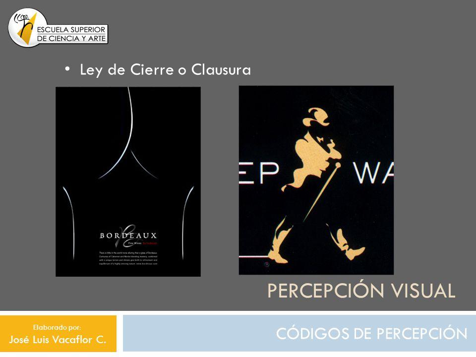 PERCEPCIÓN VISUAL CÓDIGOS DE SIGNIFICACIÓN Originalidad o Redundancia Elaborado por: José Luis Vacaflor C.