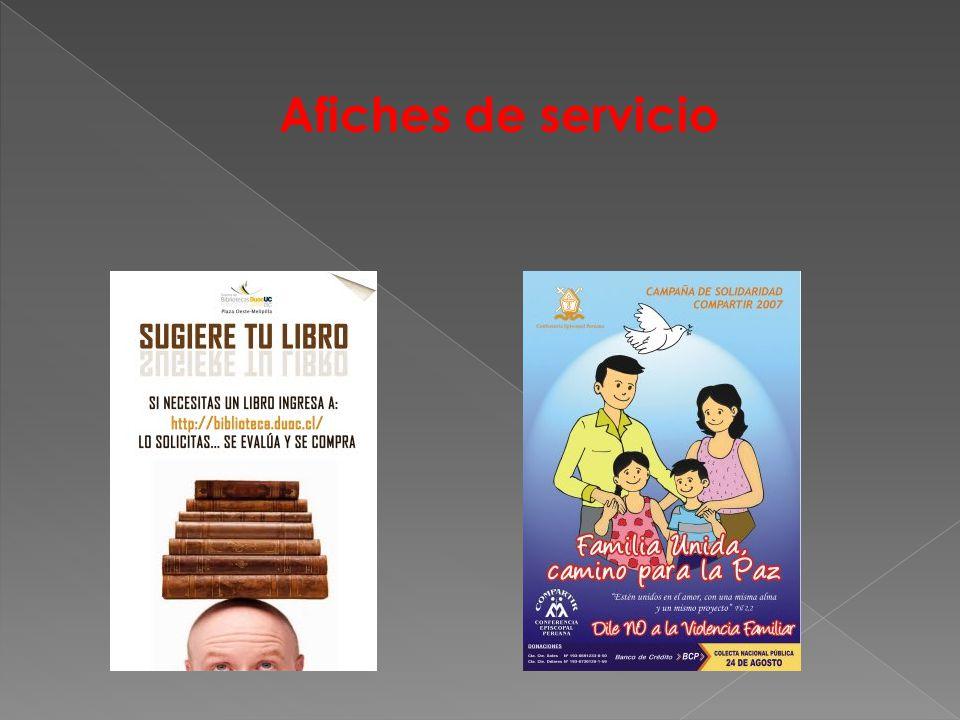 Afiches de servicio