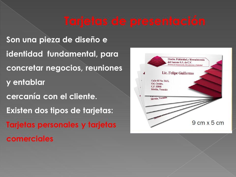 Son una pieza de diseño e identidad fundamental, para concretar negocios, reuniones y entablar cercanía con el cliente.
