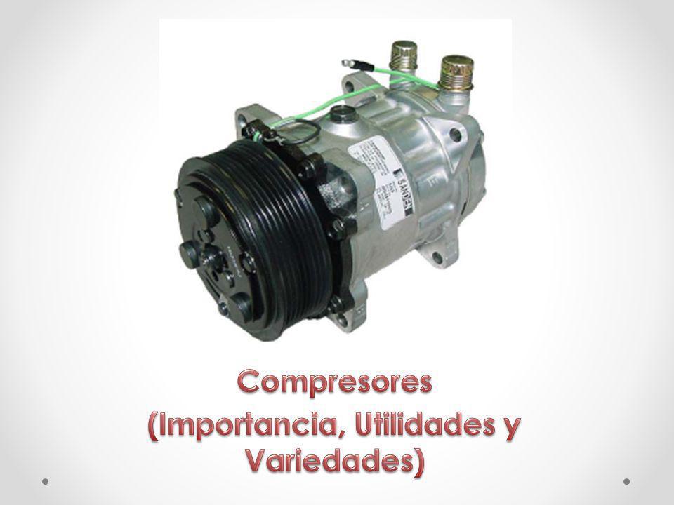 Compresor (máquina) Un compresor es una máquina de fluido que está construida para aumentar la presión y desplazar cierto tipo de fluidos llamados compresibles, tal como lo son los gases y los vapores.