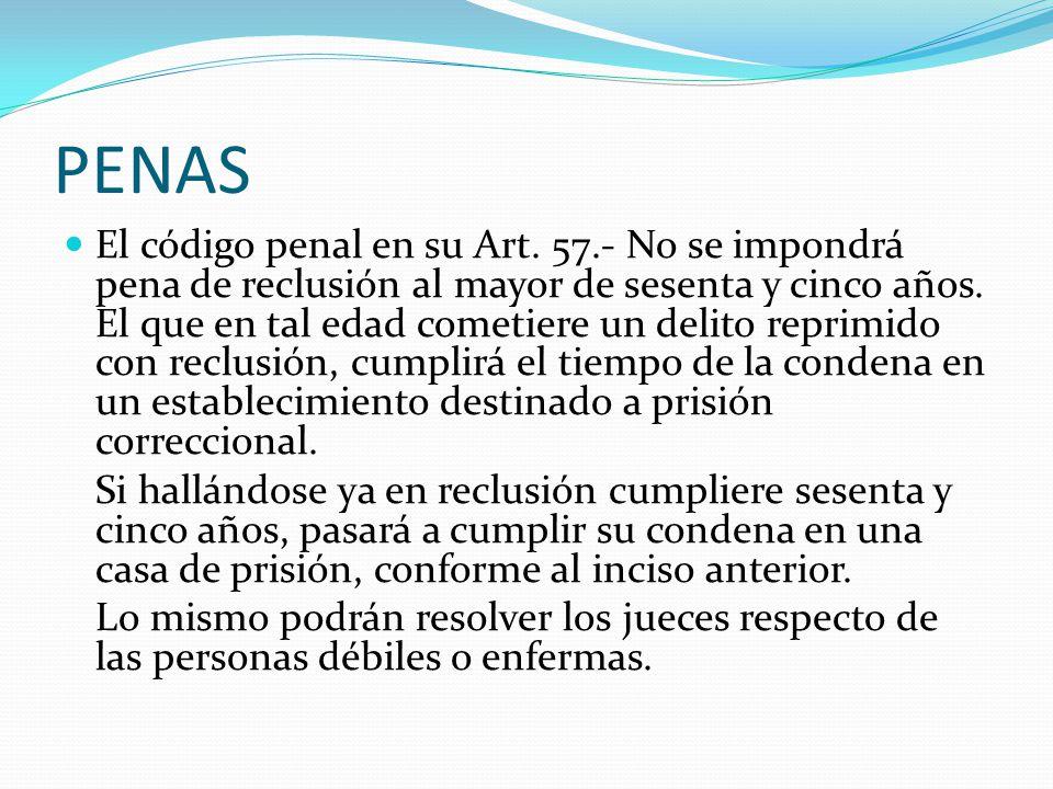 PENAS El código penal en su Art.
