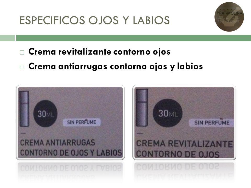 ESPECIFICOS OJOS Y LABIOS Crema revitalizante contorno ojos Crema antiarrugas contorno ojos y labios