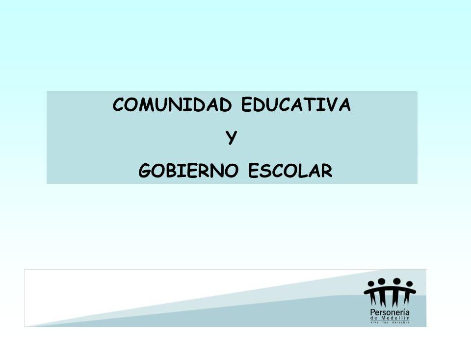 COMUNIDAD EDUCATIVA Y GOBIERNO ESCOLAR