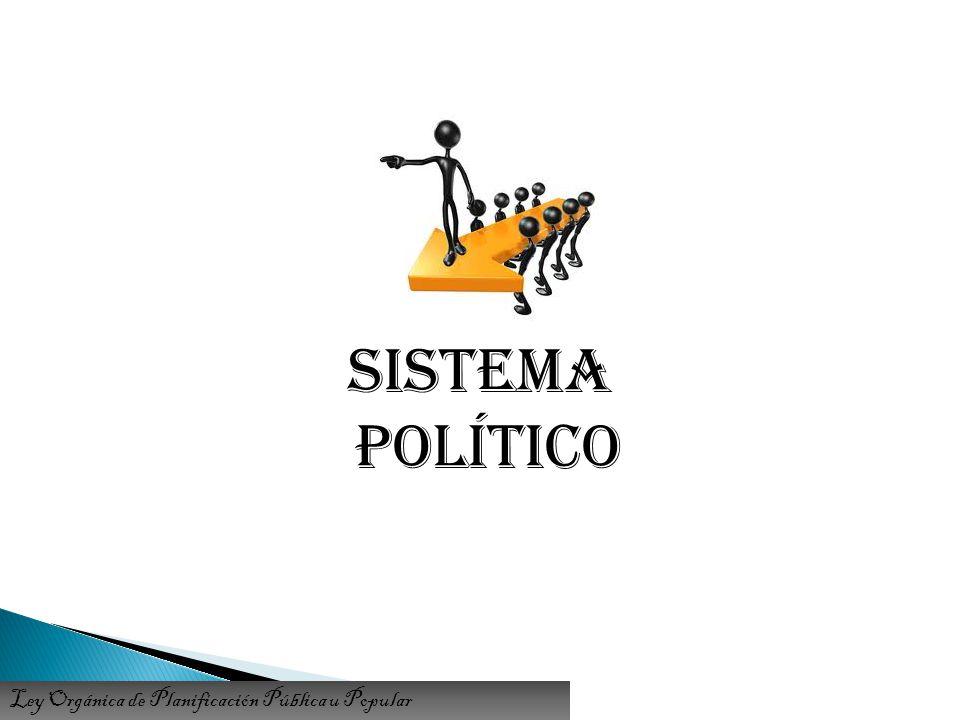 SISTEMA POLÍTICO Ley Orgánica de Planificación Pública u Popular