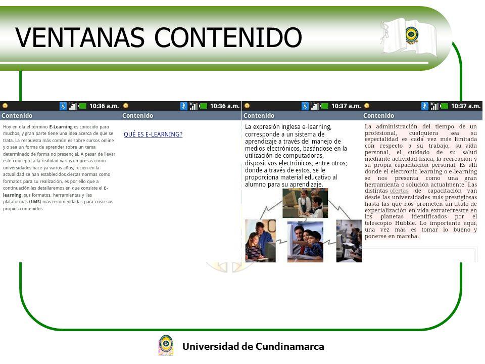 Universidad de Cundinamarca VENTANAS CONTENIDO