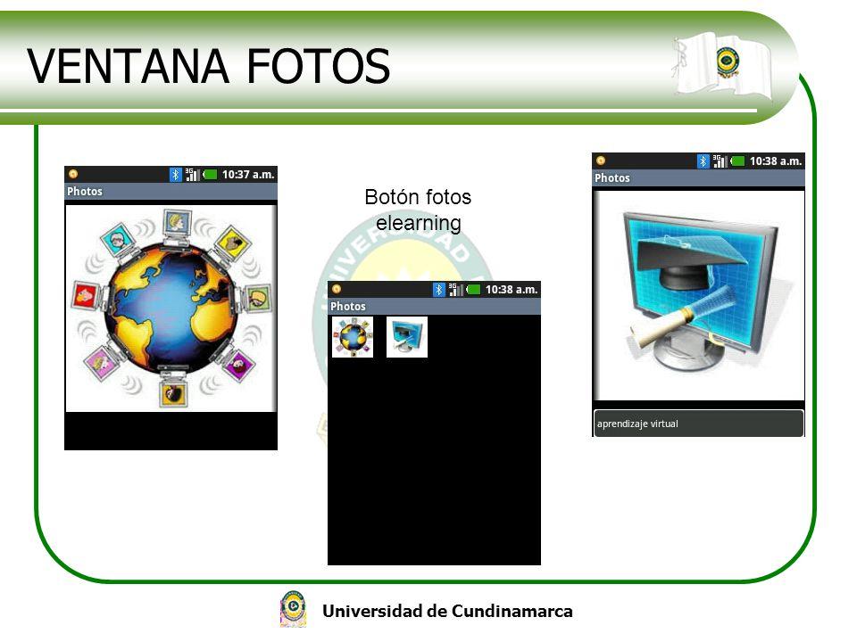 Universidad de Cundinamarca VENTANA FOTOS Botón fotos elearning