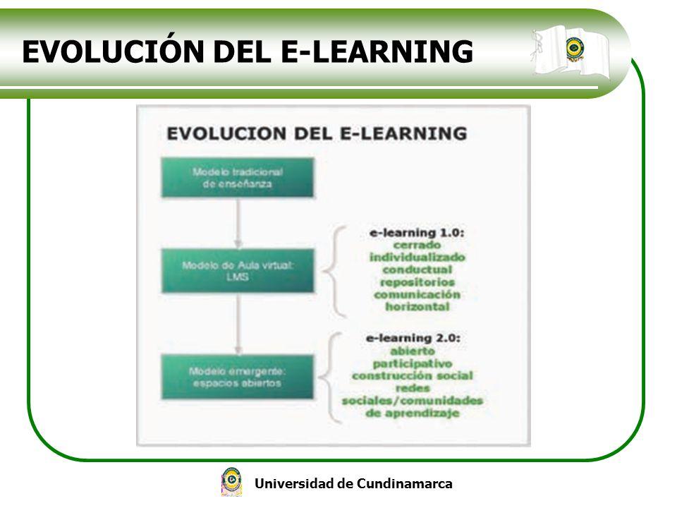 Universidad de Cundinamarca EVOLUCIÓN DEL E-LEARNING