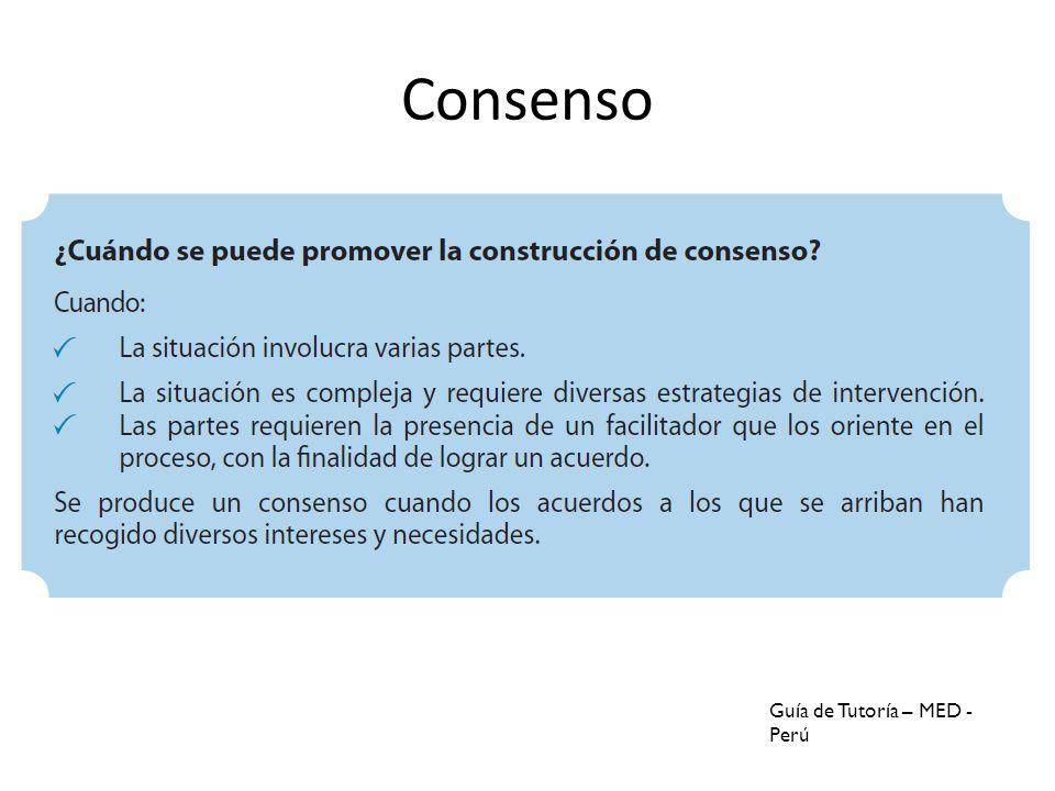 Consenso Guía de Tutoría – MED - Perú