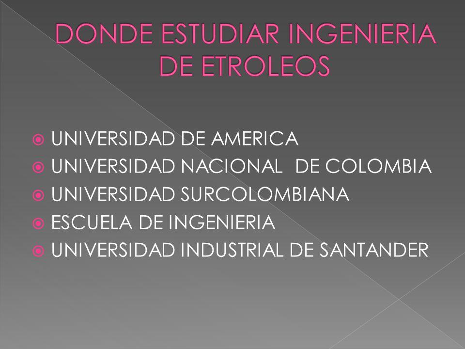 UNIVERSIDAD DE AMERICA UNIVERSIDAD NACIONAL DE COLOMBIA UNIVERSIDAD SURCOLOMBIANA ESCUELA DE INGENIERIA UNIVERSIDAD INDUSTRIAL DE SANTANDER