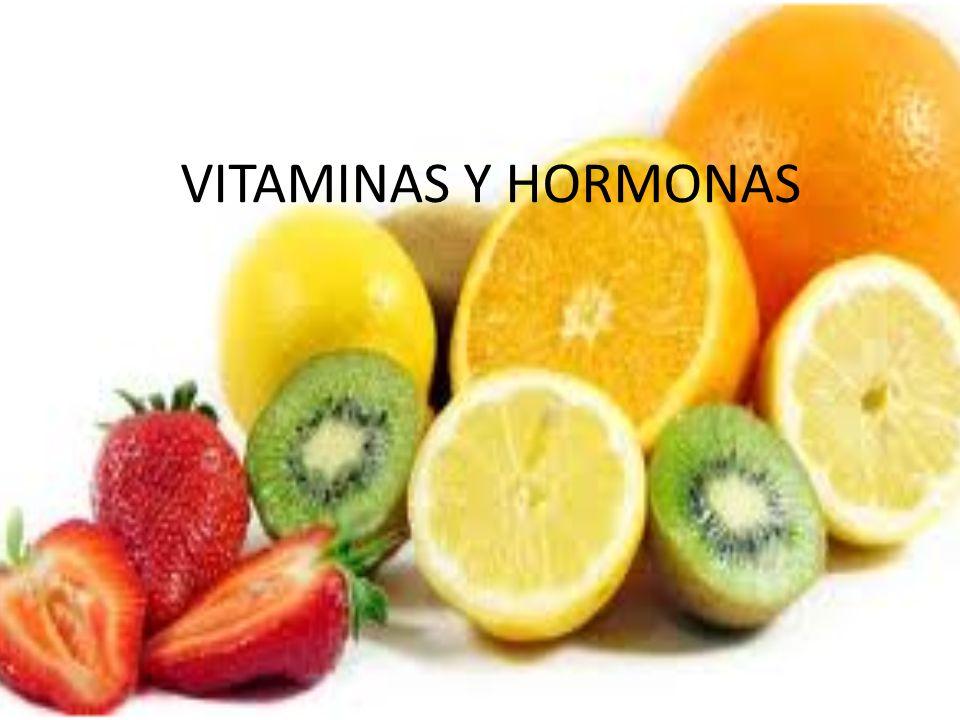 VITAMINAS Y HORMONAS