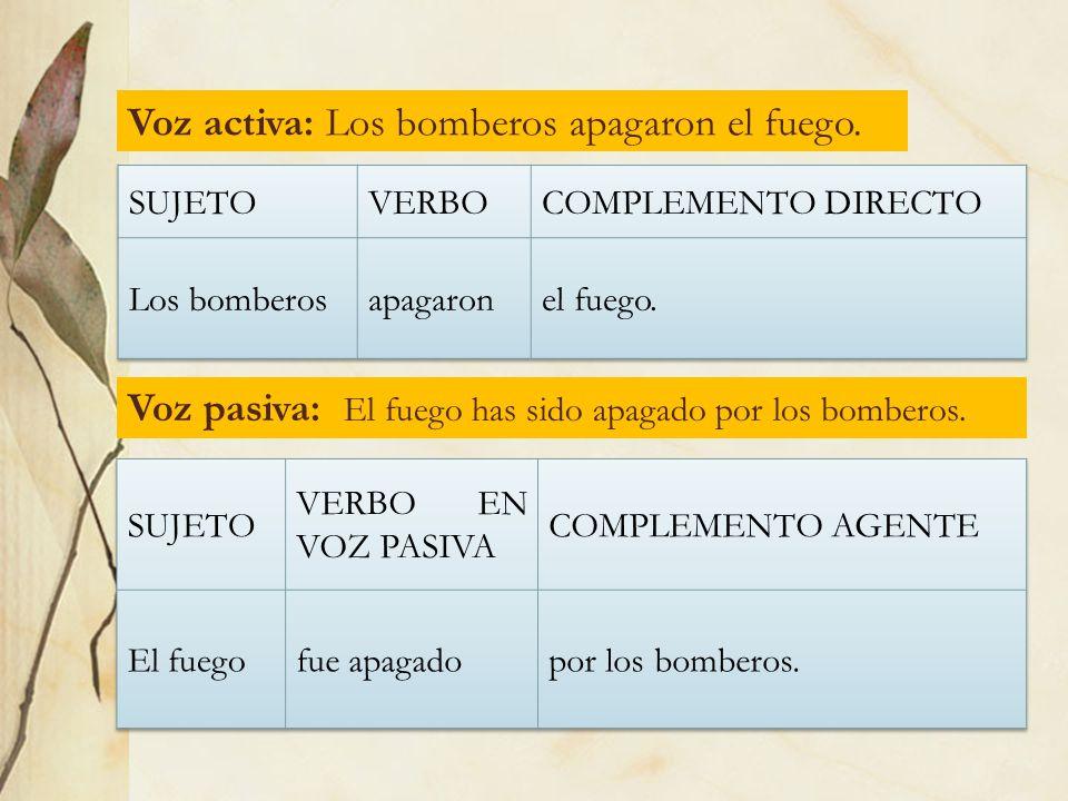 ABUSOS DE LA VOZ PASIVA 1.- Cuando el sujeto es nombre de cosa (objeto o animal), en español es preferible emplear la pasiva cuasirrefleja o pasiva con se.