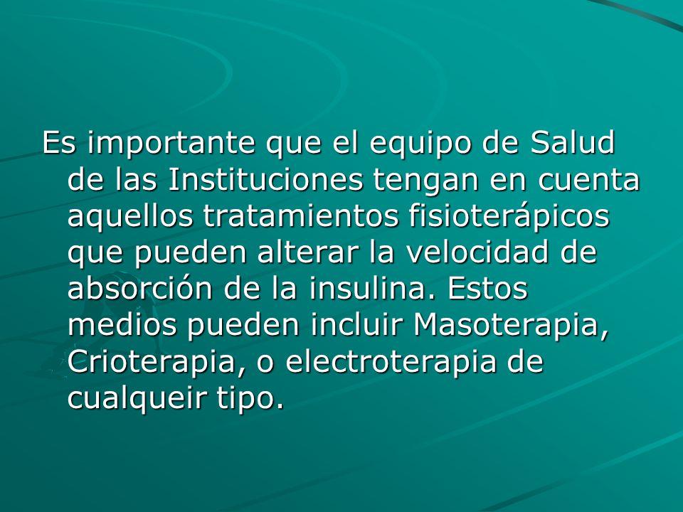 Es importante que el equipo de Salud de las Instituciones tengan en cuenta aquellos tratamientos fisioterápicos que pueden alterar la velocidad de abs