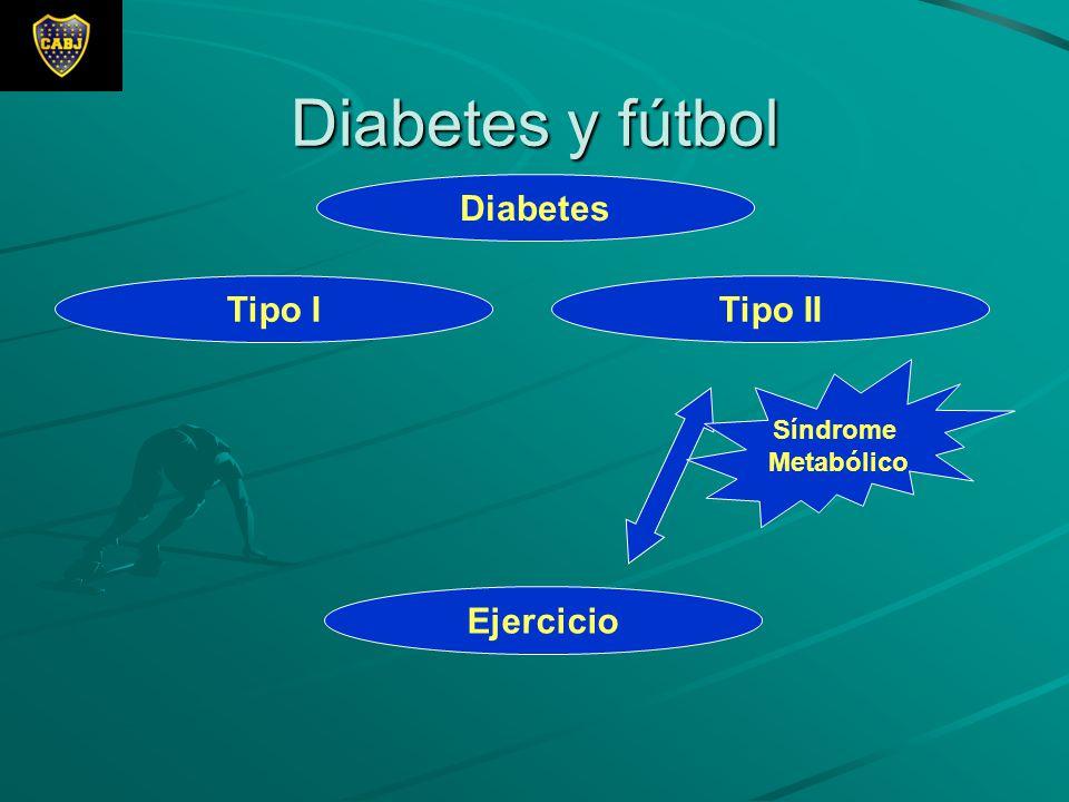 Diabetes y fútbol Diabetes Ejercicio Tipo ITipo II Síndrome Metabólico