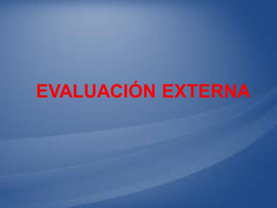 EVALUACIÓN EXTERNA