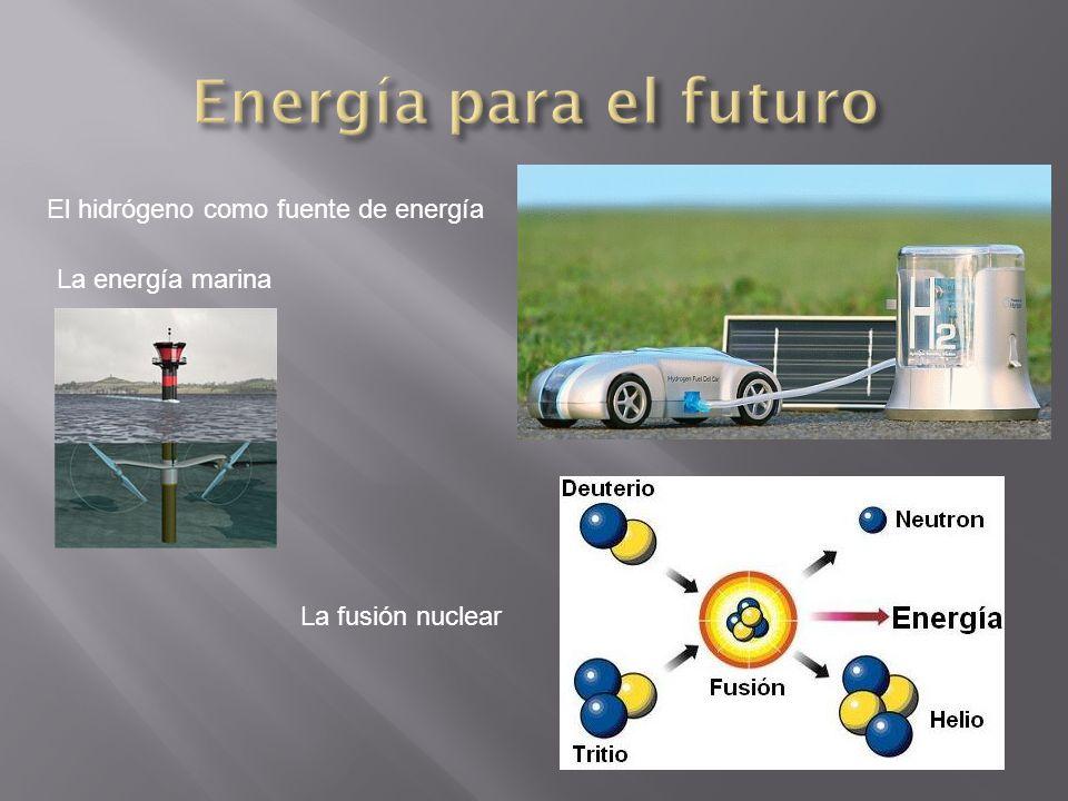 El hidrógeno como fuente de energía La energía marina La fusión nuclear