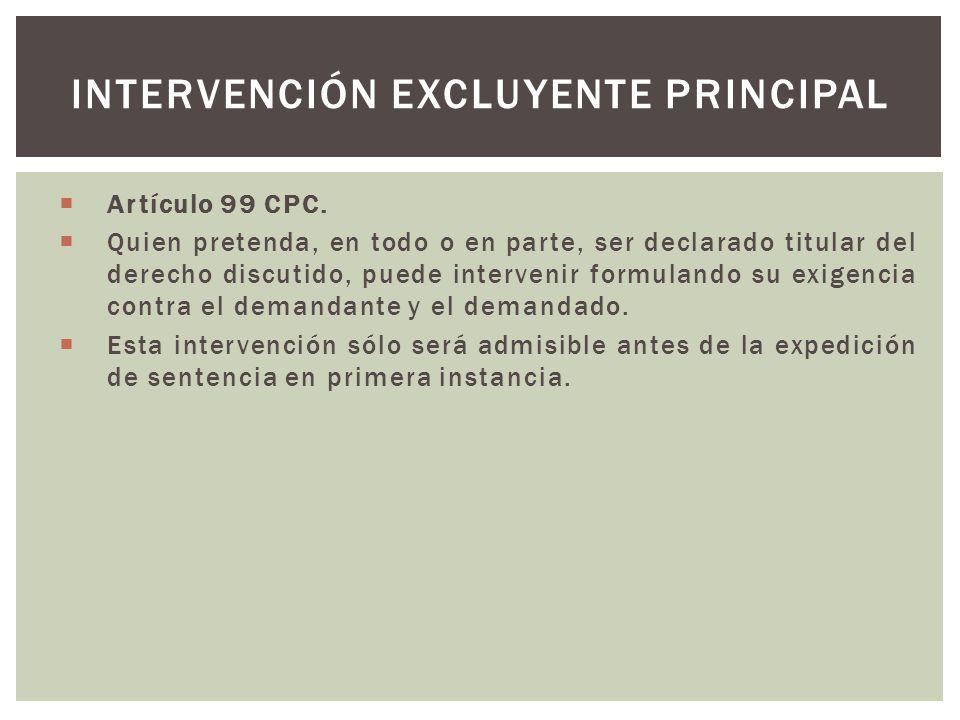 Artículo 99 CPC.