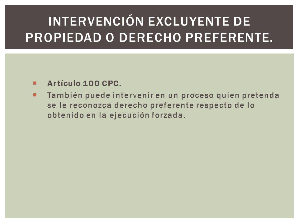 Artículo 100 CPC.