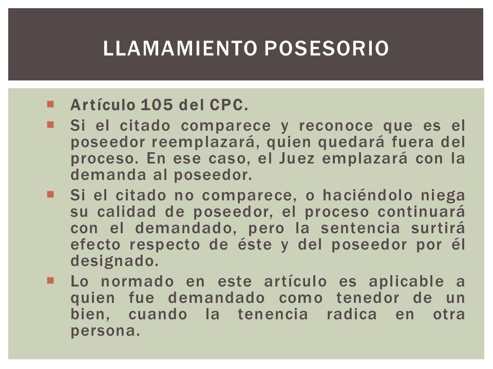Artículo 105 del CPC.