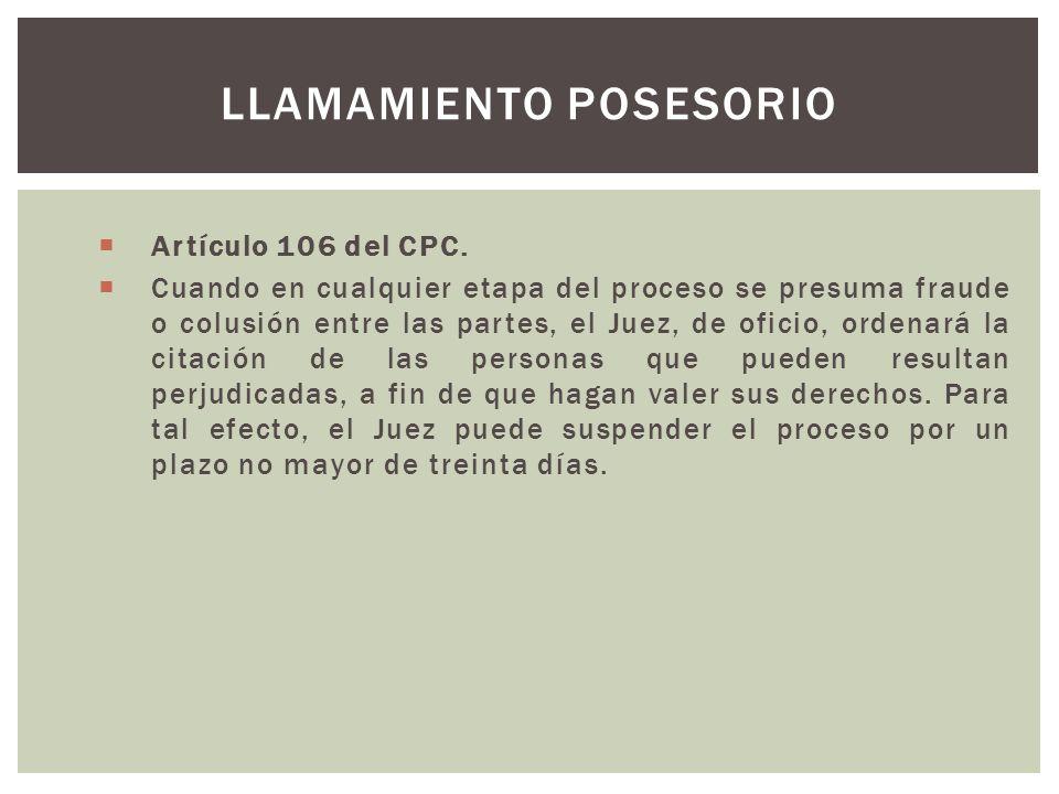 Artículo 106 del CPC.