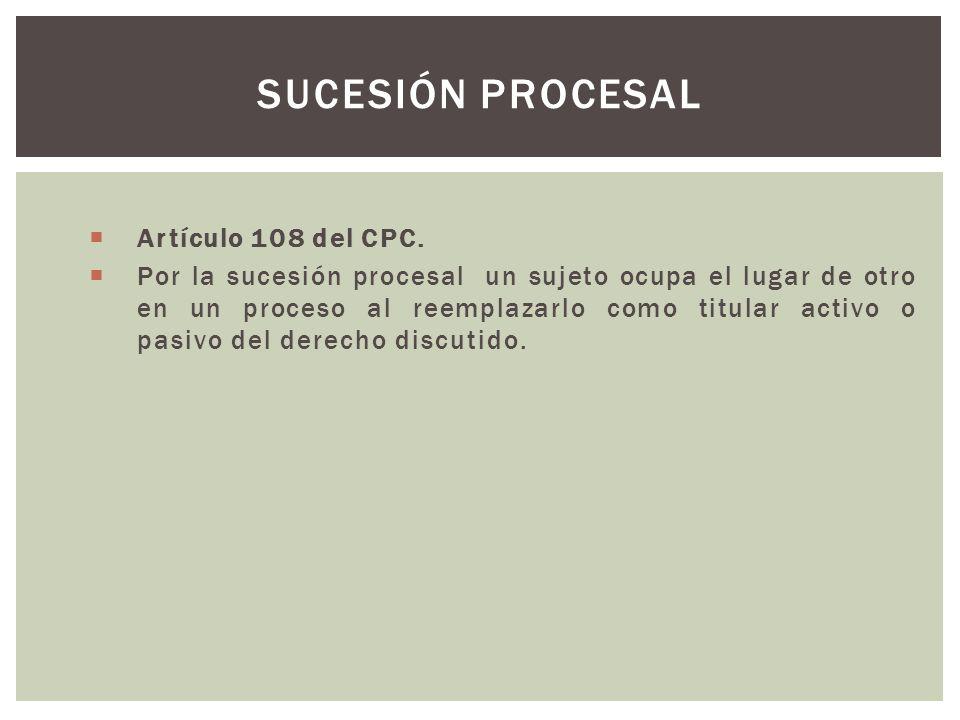 Artículo 108 del CPC.